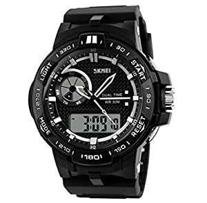 Skmei Analogue-Digital Black Dial Men's Sports Watch -1070BLK