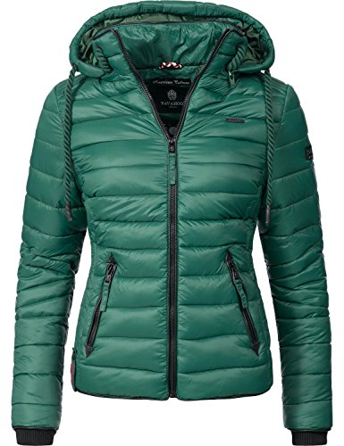 Navahoo Damen Übergangs-Jacke Steppjacke Lulana Jungle Green Gr. M
