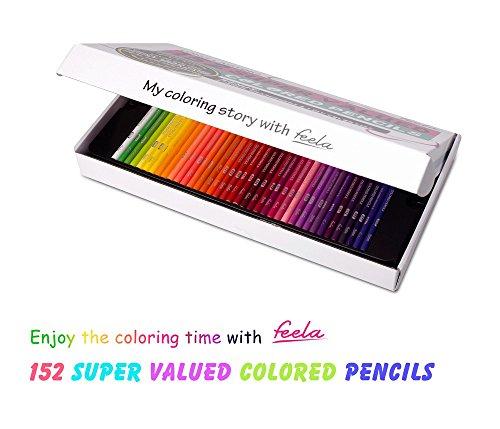 Lápices para colorear, Set de lápices de colores Feela 152 con ...