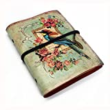 NectaRoy Rétro Vintage Cuir Journal Agenda Carnet de notes(Oiseau)