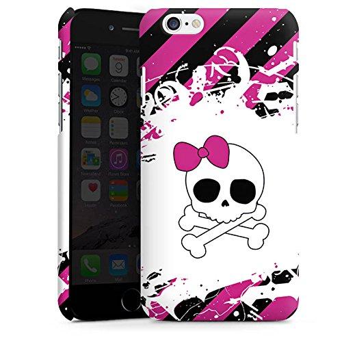 Apple iPhone X Silikon Hülle Case Schutzhülle Punk Rock Prinzessin Pink Totenkopf Premium Case matt