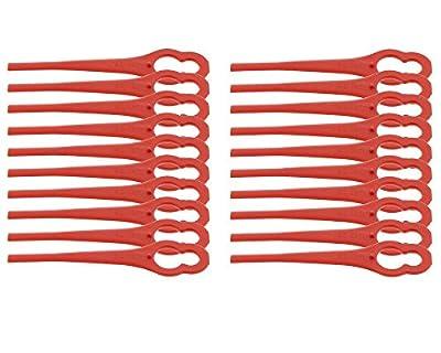 20x Nylonmesser für Bosch-Modelle ART 26 Accutrim, ART 26 Easytrim