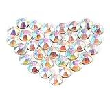 WINOMO Un ensemble de 1440pcs SS10 3mm Crystal AB résine Hotfix strass Flatback pour vêtements bricolage sac bijoux décoration de téléphone portable