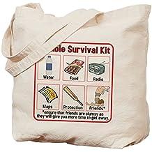CafePress–Zombie Kit de supervivencia–Gamuza de bolsa de lona bolsa, bolsa de la compra