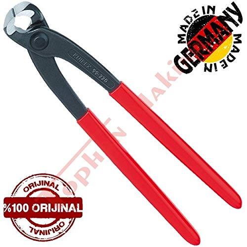 KNIPEX 99 01 250 Monierzange (Rabitz- oder Flechterzange) schwarz atramentiert mit Kunststoff überzogen 250 mm