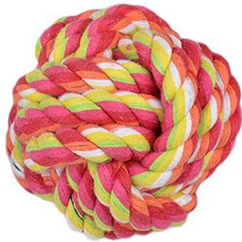 Carry stone Pet Seil Ball Baumwolle Seil Knoten zahnreinigung Ball Hund kauen Spielzeug für Hunde zufällige Farbe langlebig und praktisch -