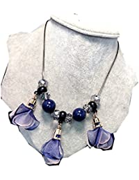 TBOP NECKLACE THE BEST OF PLANET Simple And Stylish Jewelry Exaggerated Rose Sweater Chain Necklace In Purple...
