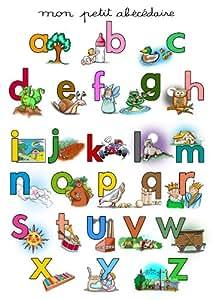 Poster alphabet - Poster éducatif pour apprendre les lettres