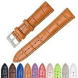 CIVO Uhrenarmband Echtes Leder Uhrband Watch Strap Top Kalbsleder 16mm 18mm 20mm 22mm 24mm Uhr Armband Watch Band für Herren Damen mit Federstege Werkzeug und 8 Pins Bonus
