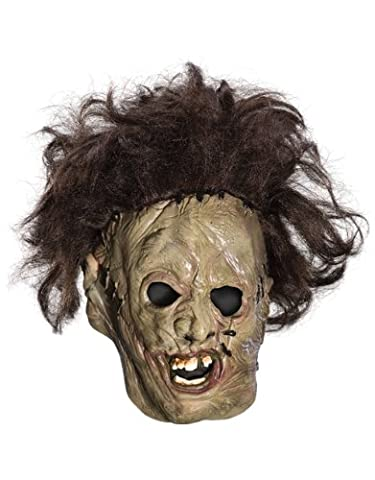 Texas Chainsaw Massacre Mask, Kids Leatherface Mask, 3/4 Vinyl With Hair