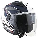 Helm Jet für Scooter Visier Lang CGM Phoenix 130g Blau Matt S