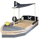 Sandkasten Boot Pirat XXL aus Holz - Schiff - SUN