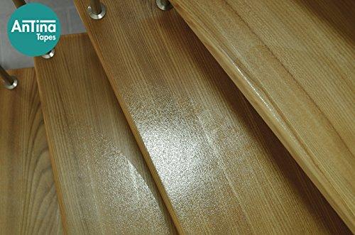 Anti-Rutsch Stufenmatten transparent für Treppen | PremiumPlus-Qualität: extrem dünn & transparent | 2-in-1: Stufenschutz & Rutschschutz | Rutschhemmung R10 nach DIN 51130 | Sichere und einfache Montage: vollflächig selbstklebend | Pflegeleicht & hygienisch (200 x 700 - halbrund)