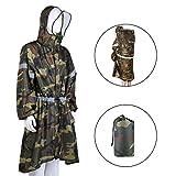 OUTAD Impermeabile Grande per il Corpo e lo Zaino per Trekking/Campeggio/Escursione (Camouflage, M)