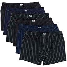 3bd865f19c ReKoe 6er Pack Herren Übergröße 3XL 4XL 5XL 6XL 7XL 8XL Boxershorts  Baumwolle Streifen Unterhosen
