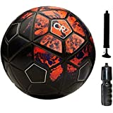 Gyronax Football(CR7) - Size: 5, Diameter: 26 cm (Pack of 1, Multicolor)+with Pump&Niddle+Sipper(Pack of 1)