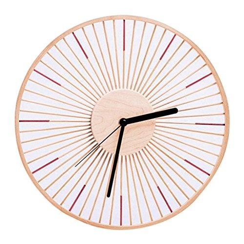 Horloges Bambou Ronde Murale Salon Familial muettes 13 Pouces