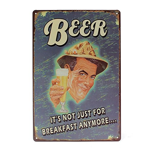 Inovey Bière Tin Signe Vintage Plaque En Métal Affiche Bar Pub Maison Mur Décor