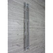 250mm ancho x 1800mm alto Calefactado Toallero Recta Plana Cromado Baño Calentador Radiador Estantería Calefacción Central