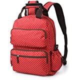 T-Bags Mommy and Baby Multifunctional Red Backpack Diaper Bag-MB22R