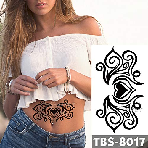 Tzxdbh 12x19cm tatuaggi temporanei impermeabili love romance flash tattoo sticker petto vita tribale totem tatoo braccio diy