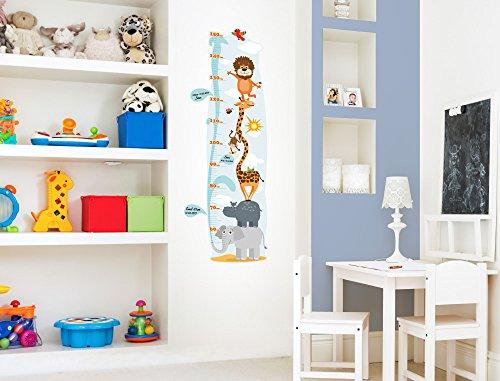 """I-love-Wandtattoo M-13-001 Kinderzimmer Messlatte """"Safari"""" zum kleben, beschriften und selbst gestalten Sticker Aufkleber Wandtattoo Wandaufkleber Wanddeko"""