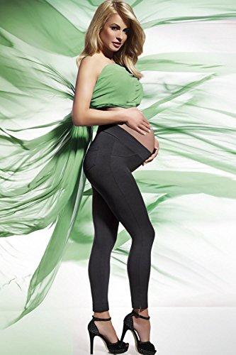 Legging doux et souple femme enceinte 200 deniers Noir