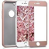 kwmobile Funda para Apple iPhone 6 / 6S - Case completa para móvil de TPU sílicona - Cover trasero completo en oro rosa metalizado