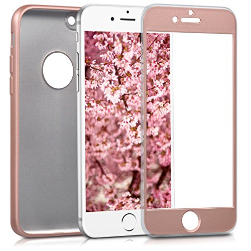 kwmobile Hülle für Apple iPhone 6 / 6S - Backcover Case Handy Schutzhülle TPU Silikon - Back Cover Metallic Rosegold
