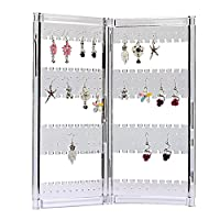Zice 120 Earring Holder Jewelry Hanger Organizer Foldable Acrylic Earring Screen Display Stand Hanging Earrings Bracelets Necklaces