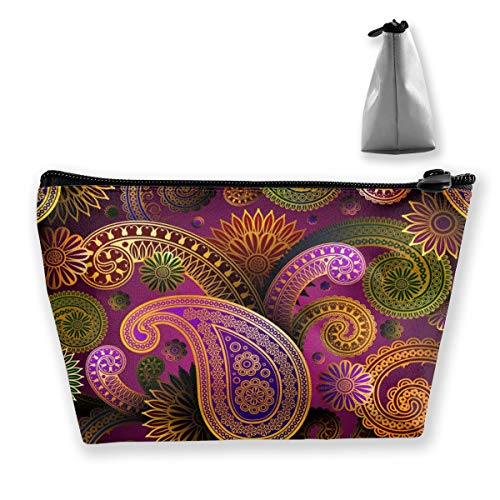 Paisley-snap (Purple Paisley Floral Pattern1 Tixing Kosmetiktasche Reise Kosmetiktaschen Etui Stift)