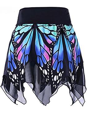 Logobeing Mujer Falda Corta Con Mariposa Logobeing Mini Baratos Con Cintura Alta Falda Plisada Uniforme Verano...
