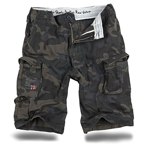 Trooper Shorts Lightning Edition Blackcamo - XL Camouflage Cargo Hose