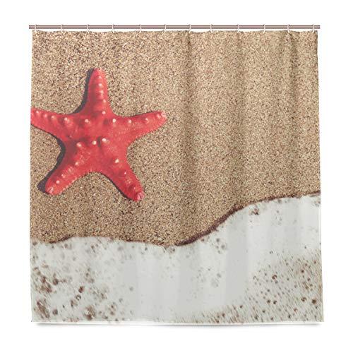 vinlin Seestern Tropical Beach Wasserdicht Badezimmer Zubehör Vorhang für die Dusche Badewanne Vorhang 182,9x 182,9cm