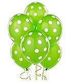 Green Polka Dot Balloons Decorative Part...