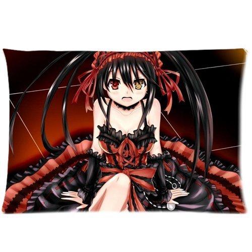 Anime Date A Live Tokisaki Kurumi Kissenbezüge benutzerdefinierte Kopfkissenbezug Kissenbezug, 20 X 30 cm, zwei Seiten