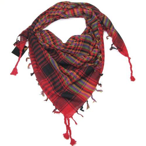 Mehrfarbiger Rot Palästinenser Tuch - Lovarzi stylische und vielfältige Palästinenser-Tuch