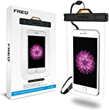 FRiEQ Universal Waterproof Case with Completely Transparent Design for Outdoor Activities - Perfect for Boating / Kayaking / Rafting / Swimming - Waterproof bag for Apple iPhone 6s Plus, 6s, 6 Plus, 6, 5S, 5C, 5; Galaxy S6, S4, S3; HTC One X; Galaxy Note 4, Note 3; LG G2, up to 6 inch Diagonal - Protects your Cell Phone or MP3 Player from Water, Sand, Dust and Dirt - IPX8 Certified to 100 Feet