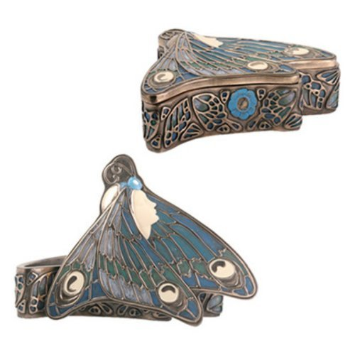Summit Art Nouveau Butterfly Princess Box Bronze Farbe Display