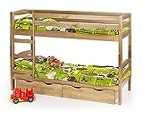 Best For Kids Hausbett Hochbett Dixi Kinderbett Kinderhaus mit Zwei Schubladen und Zwei passenden Matratzen