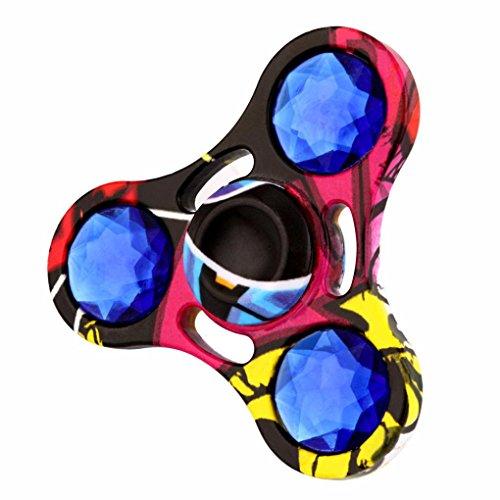 Preisvergleich Produktbild Saingace Metal Crystal Fidget Spinner Dreieck Einzelfinger Dekompression Gyro Hand Spinner Fingerspitzen Gyro