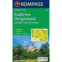 Südlicher Steigerwald: Erlangen, Fürth, Schwabach. Wander- und Radkarte. GPS-genau. 1:50.000