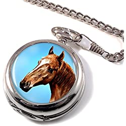 Horse Portrait Full Hunter Pocket Watch