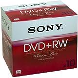 Sony DPW 120A - 10 x DVD+RW - 4.7 GB 1x - 4x - jewel Case - storage media