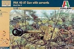 Italeri 6879S  - Segundo Deutsch soldados de la Guerra Mundial y la pistola PaK40