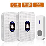 Wireless Doorbell Waterproof, Yvelines Wireless Door Chime kits with 1 Remote Transmitter Button