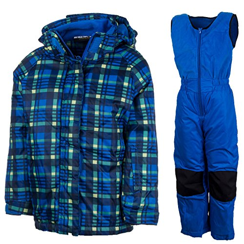 Skianzug Kinder Schneeanzug Skijacke Skihose Jungen Mädchen Winteroverall | Y-42501Cc Blau 128