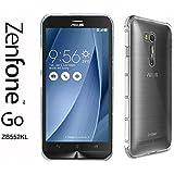 "Asus Zenfone GO (ZB552KL) Taille 5.5"" - Coque Housse étui silicone premium - Transparent - Air Cushion Corners (semi rigide - chocs absorption)"