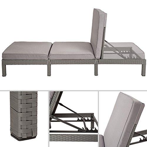 tectake-polyrattan-sonnenliege-gartenliege-inkl-polsterauflage-5-stufen-verstellbare-rueckenlehne-diverse-farben-grau-nr-402308-2