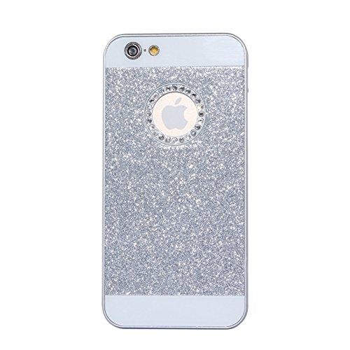 BING Für IPhone 6 Plus / 6S Plus, UV Shimmering Pulver Diamant-verkrustet Schutzmaßnahmen harten Fall BING ( Color : Magenta ) Silver